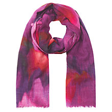 Buy Jigsaw Jewel Print Scarf, Purple Online at johnlewis.com