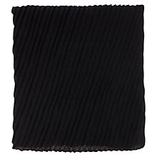 Buy Warehouse Pleated Plain Scarf, Black Online at johnlewis.com