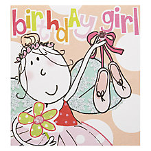 Buy Caroline Gardner Birthday Girl Fairy Greetings Card Online at johnlewis.com