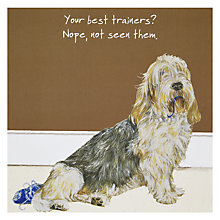 Buy The Little Dog Laughed Trainers Greeting Card Online at johnlewis.com