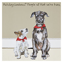Buy The Little Dog Laughed Twins Greeting Card Online at johnlewis.com