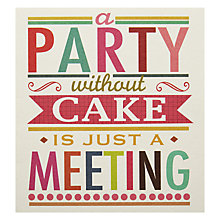 Buy Caroline Gardner Party Without Cake Greeting Card Online at johnlewis.com
