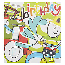 Buy Caroline Gardner Birthday Fireman Greeting Card Online at johnlewis.com