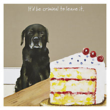 Buy The Little Dog Laughed Criminal Greeting Card Online at johnlewis.com
