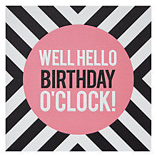 Buy Pigment Birthday O'Clock Greeting Card Online at johnlewis.com