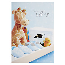 Buy Woodmansterne Baby Blue Greetings Card Online at johnlewis.com