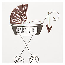 Buy Platinum Baby Girl Greeting Card Online at johnlewis.com
