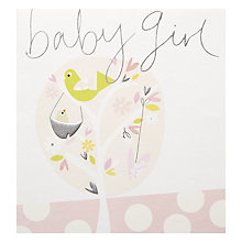Buy Caroline Gardner Baby Girl Tree Greeting Card Online at johnlewis.com