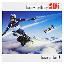 Buy Saffron Have A Blast Son Birthday Card Online at johnlewis.com