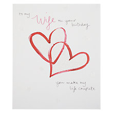 Buy Woodmansterne Painted Hearts Greeting Card Online at johnlewis.com