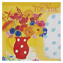 Buy Pigment Botanical Red White Spotty Greeting Card Online at johnlewis.com