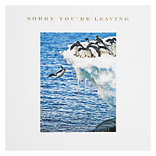Buy Susan O'Hanlon Penguin Jumping Greeting Card Online at johnlewis.com