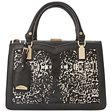 Buy Dune Daphne Curved Bag, Black Online at johnlewis.com