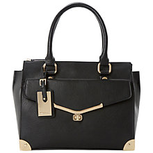 Buy Dune Dorisey Mini Barrel Bag, Black Online at johnlewis.com