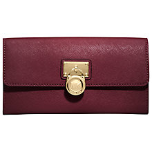 Buy MICHAEL Michael Kors Hamilton Large Flap Wallet, Red Online at johnlewis.com