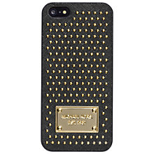 Buy MICHAEL Michael Kors Electronics Studded Leather iPhone 5 Cover, Black Online at johnlewis.com
