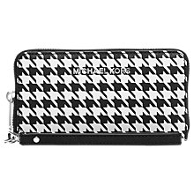 Buy MICHAEL Michael Kors Jet Set Travel Leather Purse, Houndstooth Online at johnlewis.com