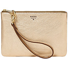 Buy Fossil Sydney Leather Zip Pouch Online at johnlewis.com