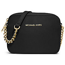 Buy MICHAEL Michael Kors Jet Set Travel Saffiano Leather Across Body Bag Online at johnlewis.com