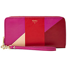 Buy Fossil Sydney Leather Patchwork Clutch Purse Online at johnlewis.com