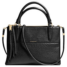 Buy Coach Borough Mini Pebbled Leather Bag, Black Online at johnlewis.com