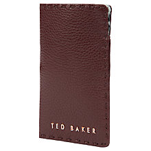 Buy Ted Baker Sossie Leather Phone Sleeve, Dark Brown Online at johnlewis.com