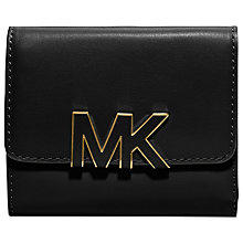 Buy MICHAEL Michael Kors Florence Carry All Leather Purse, Black Online at johnlewis.com