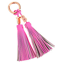 Buy Ted Baker Tassler Tassel Leather Bag Charm Online at johnlewis.com