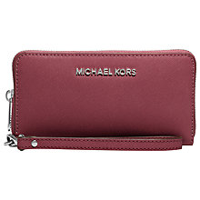 Buy MICHAEL Michael Kors Jet Set Zip Around Leather Travel Purse Online at johnlewis.com