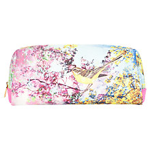 Buy Ted Baker Troina Pretty Trees Crosshatch Wash Bag, Pink Online at johnlewis.com
