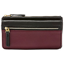 Buy Fossil Erin Leather Flap Purse, Raisin Online at johnlewis.com