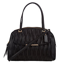 Buy Coach Madison Leather Georgie Shoulder Bag, Black Online at johnlewis.com