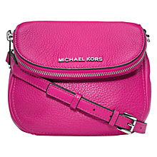 Buy MICHAEL Michael Kors Bedford Flap Leather Across Body Bag, Pink Online at johnlewis.com