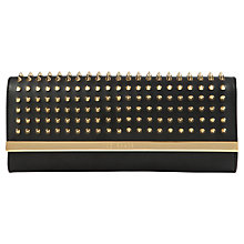Buy Ted Baker Olivets Studded Leather Bar Clutch Bag Online at johnlewis.com