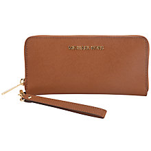 Buy MICHAEL Michael Kors 18ct Gold Jet Set Travel Leather Purse Online at johnlewis.com