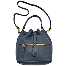 Buy Fossil Vickery Leather Slouch Bucket Bag, Blue Online at johnlewis.com