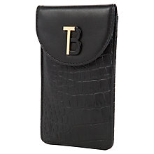 Buy Ted Baker Sordo Leather iPhone Case Online at johnlewis.com