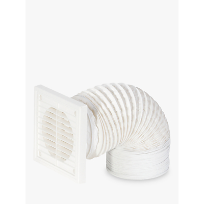 John Lewis Venting Flexible Duct Kit, White