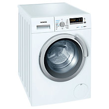 Buy Siemens WD14H320GB Washer Dryer, 7kg Wash/4kg Dry Load, B Energy Rating, 1400rpm Spin, White Online at johnlewis.com