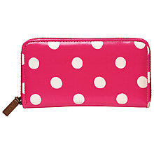 Buy Cath Kidston Button Spot Zip Wallet, Raspberry Online at johnlewis.com