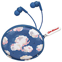 Buy Cath Kidston Clouds Earphones with Pouch Online at johnlewis.com