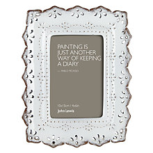 "Buy John Lewis Ceramic White Photo Frame, 4 x 6"" (10 x 15cm) Online at johnlewis.com"