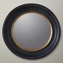 Buy John Lewis Round Antique Mirror, Dia. 25cm, Black/Gold Online at johnlewis.com