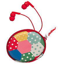 Buy Cath Kidston Mini Patch Earphones and Pouch Online at johnlewis.com