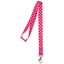 Buy Cath Kidston Little Spot Lanyard, Pink Online at johnlewis.com