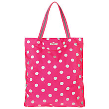 Buy Cath Kidston Button Spot Foldaway Tote Online at johnlewis.com