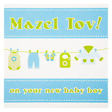 Buy Devora Mazel Tov New Baby Boy Greeting Card Online at johnlewis.com