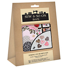 Buy Docrafts String Of Hearts Kit Online at johnlewis.com