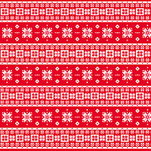 Buy Decopatch Red And White Snowflake Paper Online at johnlewis.com