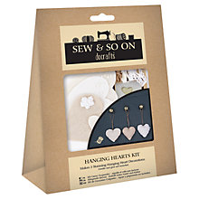 Buy Docrafts Hanging Hearts Kit Online at johnlewis.com